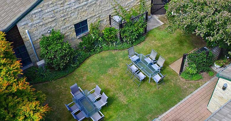 Cambridge Mews outdoor seating